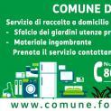 Servizio di raccolta domiciliare di sfalcio e ingombranti nel comune di Formia e indicazioni per il corretto conferimento dei rifiuti