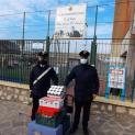 Formia: I Carabinieri della locale Compagnia donano generi alimentari per i poveri della Caritas.